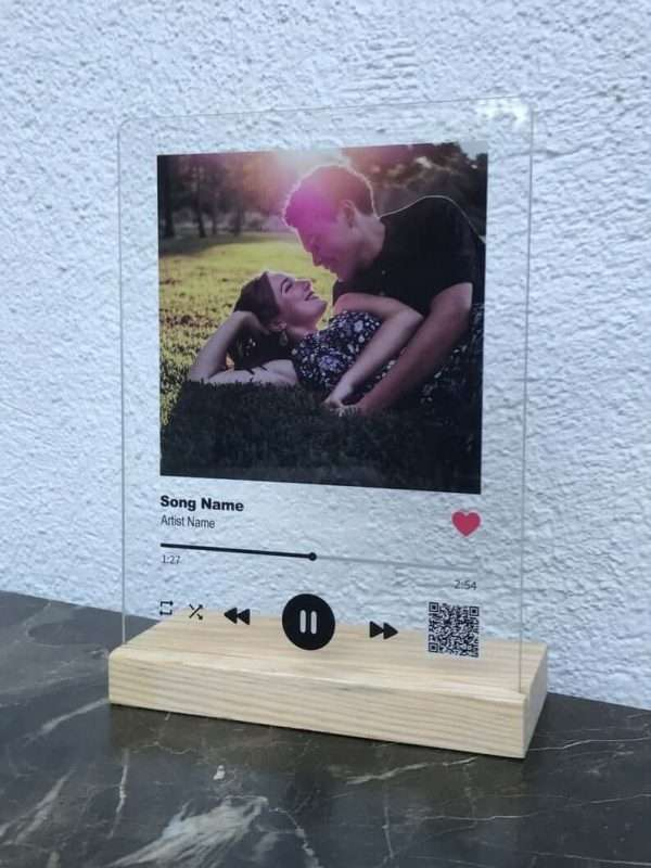 Personalised Spotify Glass Plaque2